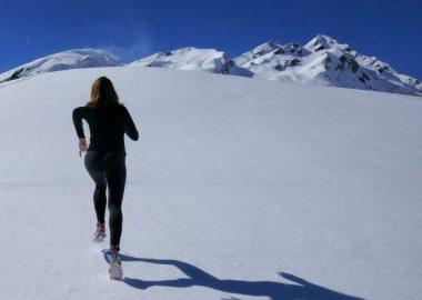 GOAL SETTING running up mountain
